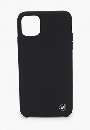 Чехол для iPhone BMW 11 Pro Max, Signature Liquid silicone Space grey. Цвет: черный