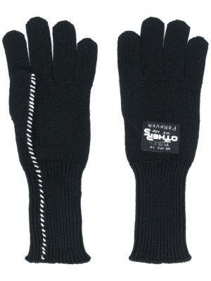 Вязаные перчатки Raf Simons. Цвет: черный