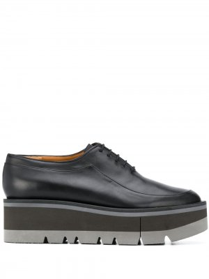 Туфли Brew на шнуровке Clergerie. Цвет: черный