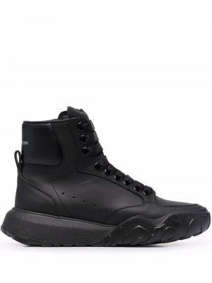 Logo-print lace-up sneakers Alexander McQueen. Цвет: черный