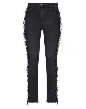 Джинсовые брюки CRISTINAEFFE. Цвет: черный