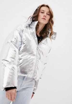Куртка утепленная Juicy Couture ROSALIA VINYL JACKET. Цвет: серебряный