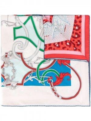 Платок Carre 90 pre-owned Hermès. Цвет: белый