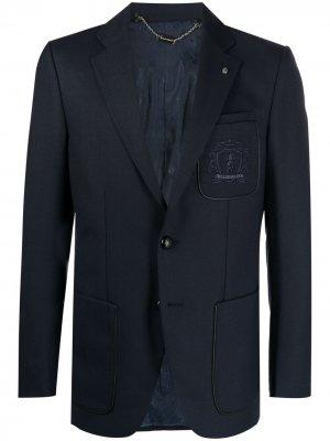 Пиджак с вышивкой Billionaire. Цвет: синий