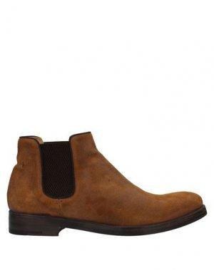 Полусапоги и высокие ботинки ALBERTO FASCIANI. Цвет: верблюжий