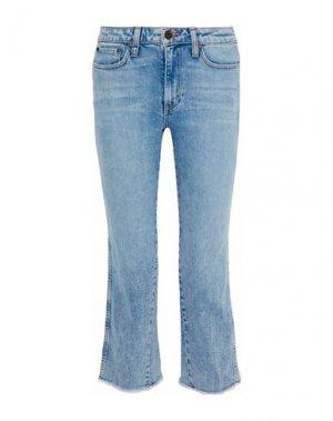 Джинсовые брюки-капри ALICE + OLIVIA. Цвет: синий
