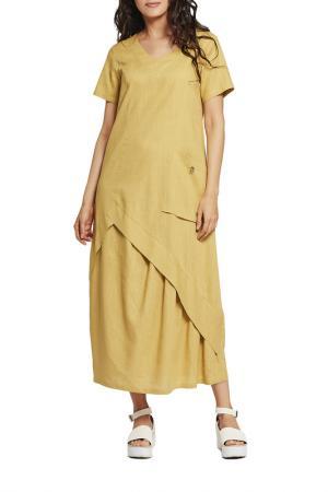 Платье D`imma. Цвет: горчичный