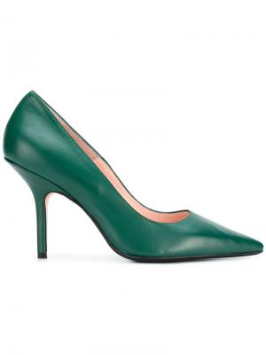 Pointed toe pumps Anna F.. Цвет: зеленый