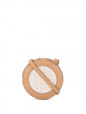 Круглая сумка на плечо Bvlgari Pre-Owned. Цвет: коричневый
