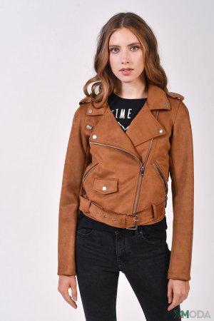 Куртка Alcott. Цвет: коричневый