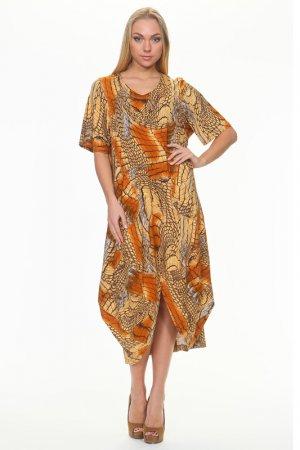 Платье МадаМ Т. Цвет: коричневый с бежевым