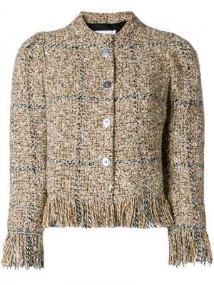 Твидовый пиджак на пуговицах Sonia Rykiel. Цвет: коричневый