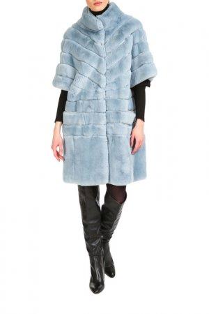 Fur coat Manakas. Цвет: light blue