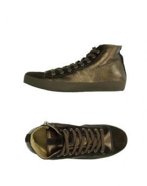 Высокие кеды и кроссовки ALLUMINIO. Цвет: бронзовый