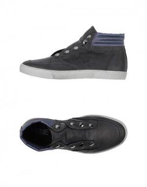 Высокие кеды и кроссовки HENNE. Цвет: свинцово-серый