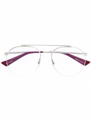 Солнцезащитные очки-авиаторы с эффектом градиента Christian Roth. Цвет: серебристый