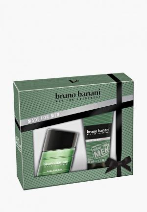 Набор парфюмерный Bruno Banani Made For Men Туалетная вода 30 мл  + гель для душа 50. Цвет: зеленый