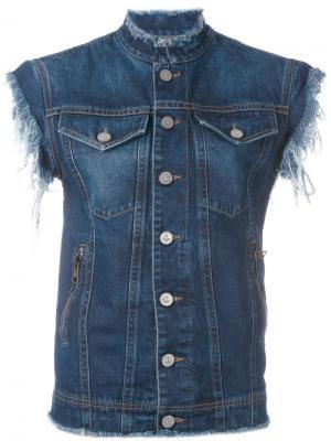 Джинсовая куртка без рукавов Vivienne Westwood Anglomania. Цвет: синий