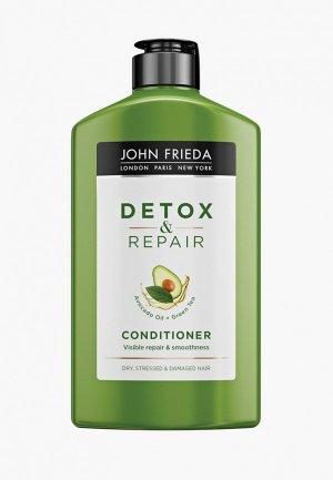 Кондиционер для волос John Frieda восстановления и гладкости DETOX & REPAIR, 250 мл. Цвет: прозрачный