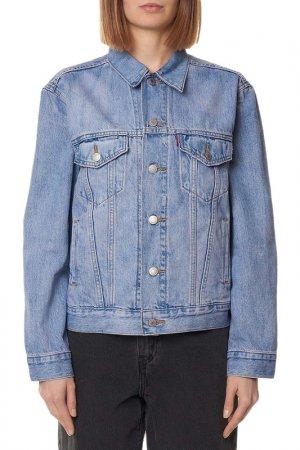 Куртка джинсовая Ex Boyfriend Levis. Цвет: синий