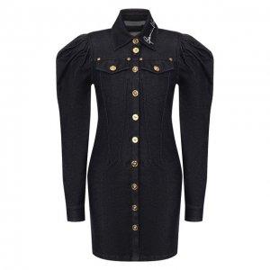 Джинсовое платье Versace. Цвет: синий