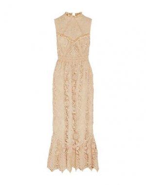 Длинное платье ANNA SUI. Цвет: слоновая кость