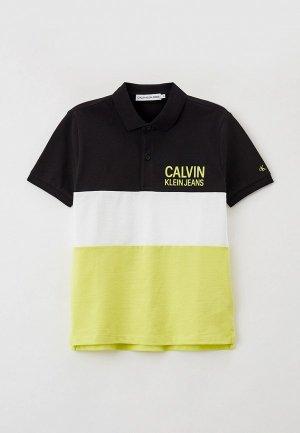 Поло Calvin Klein Jeans. Цвет: разноцветный