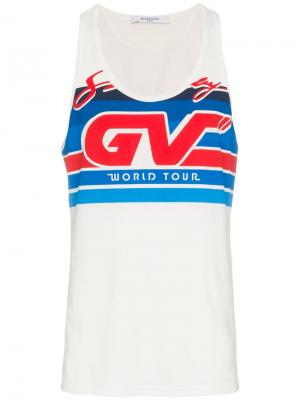 Майка с логотипом Motocross Givenchy. Цвет: белый