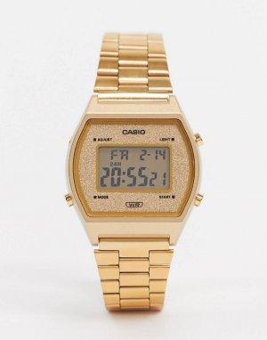 Золотистые цифровые наручные часы -Золотой Casio