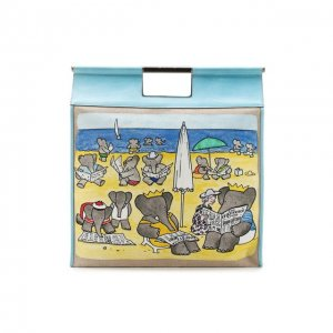 Сумка-шопер Babar Lanvin. Цвет: синий