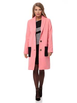 Пальто Gloss. Цвет: розовый, черный