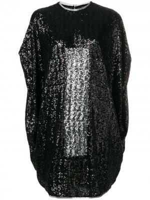 Short sequined dress Gianluca Capannolo. Цвет: черный