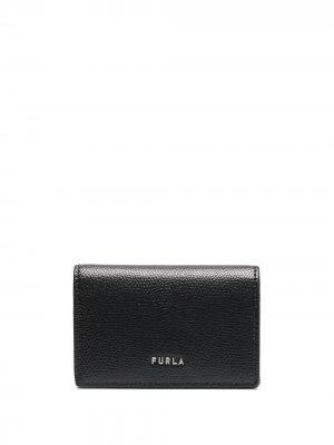 Кошелек с логотипом Furla. Цвет: черный