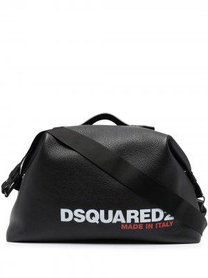 Logo print duffle bag Dsquared2. Цвет: черный