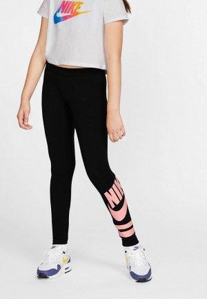 Леггинсы Nike SPORTSWEAR GIRLS GRAPHIC LEGGINGS. Цвет: черный
