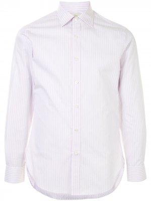 Полосатая рубашка с длинными рукавами Kent & Curwen. Цвет: фиолетовый