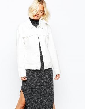 Джинсовая куртка с необработанными краями Weekday. Цвет: парусиновый