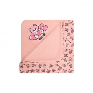 Хлопковое одеяло Moschino. Цвет: розовый