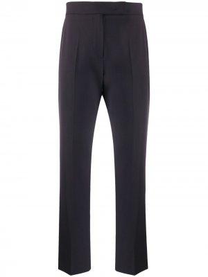 Укороченные брюки кроя слим Max Mara. Цвет: синий