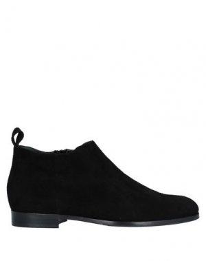 Полусапоги и высокие ботинки ALLUMINIO. Цвет: черный