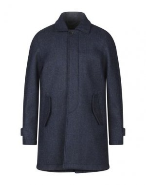 Пальто BARACUTA. Цвет: синий
