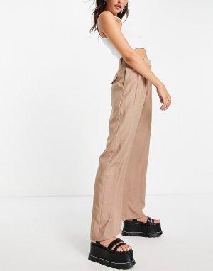 Розовые брюки-галифе со складками -Розовый цвет Topshop