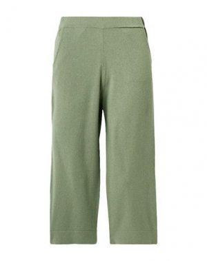 Повседневные брюки ALLUDE. Цвет: зеленый-милитари