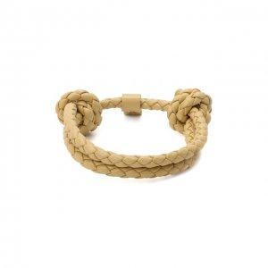 Кожаный браслет Bottega Veneta. Цвет: бежевый