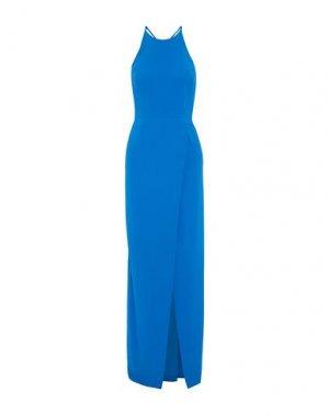 Длинное платье HALSTON. Цвет: лазурный