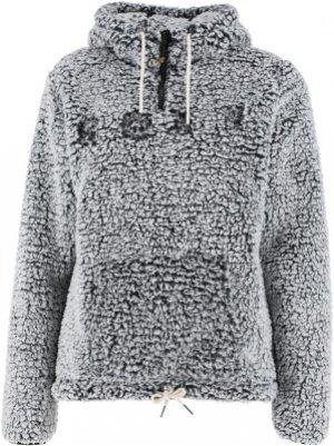 Джемпер флисовый женский Pluma Sherpa, размер 42 Roxy. Цвет: серый