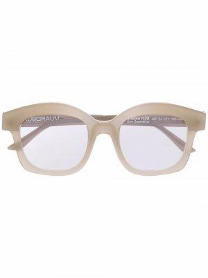 Солнцезащитные очки K28 в массивной оправе Kuboraum. Цвет: нейтральные цвета