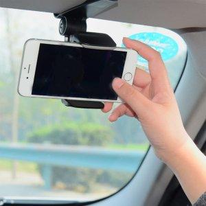Автомобильный держатель солнцезащитного козырька для телефона SHEIN. Цвет: чёрный