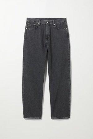 Прямые джинсы свободного кроя Galaxy Weekday. Цвет: черный