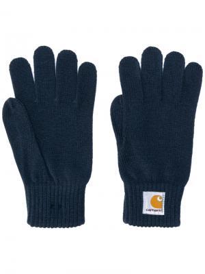 Классические перчатки Carhartt. Цвет: синий